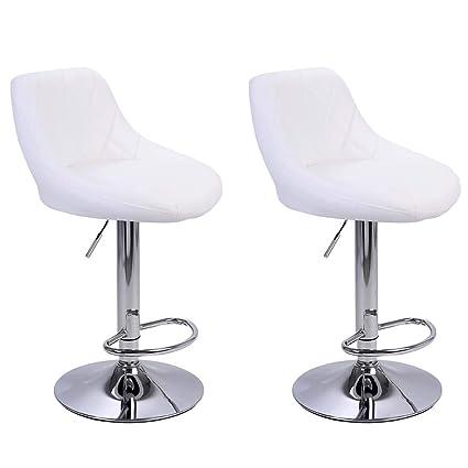 Amazon.com: Ailia 2 sillas de bar retro para recepción ...