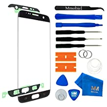 MMOBIEL Front Glass for Samsung Galaxy S7 Edge (Black) G935 Series Display Touchscreen incl Tool Kit/Pre-Cut Sticker/Tweezers/Roll of 2mm Adhesive Tape/Suction Cup/Metal Wire/Cleaning Cloth