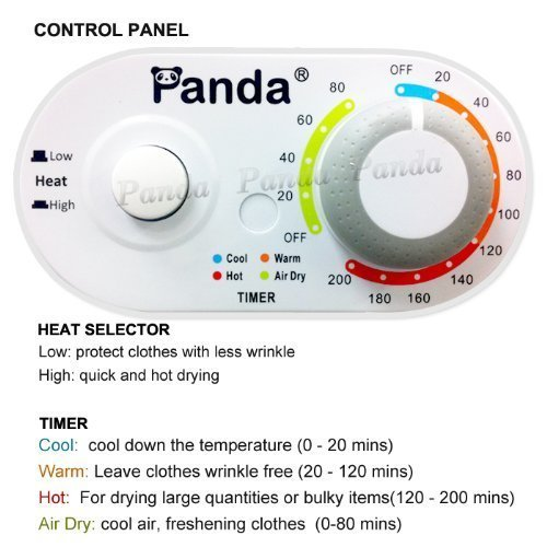 Panda Compact Dryer 3.75cu.ft 110V Apartment Size, White and Black,Stainless Steel Tumble by Panda (Image #4)