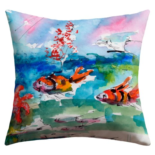 DENY Designs Ginette Fine Art Clownfish Outdoor Throw Pillow, 26 by 26-Inch