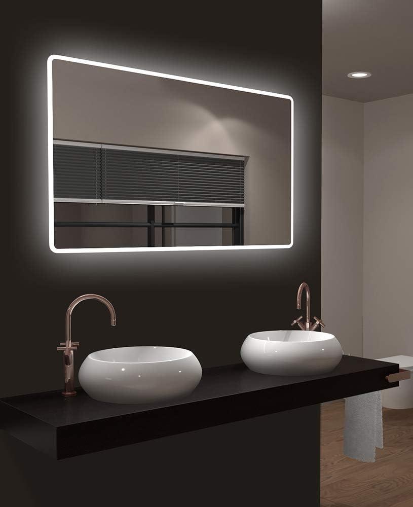 LED Badspiegel Talos Moon 120x70 cm - Modernes Design und hochwertige Beschichtung