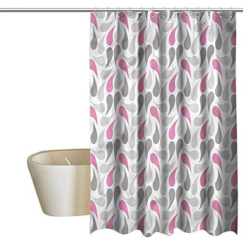 Denruny Shower Curtains for Bathroom Linen Geometric,Persian Teardrop,W48 x L72,Shower Curtain for Bathroom