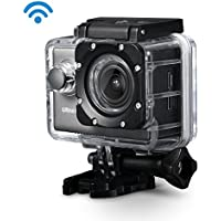 Primacc Action Camera,4k Waterproof Anti-Shaking Wifi Sports Camera, Camcoder 20MP with Sony Sensor,170 Wide Angle Lens,2 Inch HD Screen