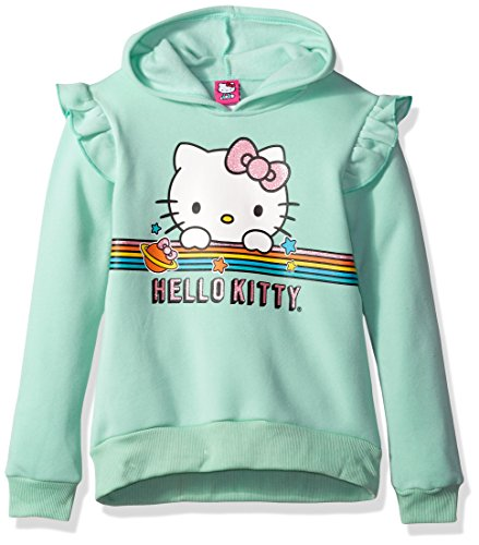 Hello Kitty Little Girls' Character Hoodie, Mint Green, 10