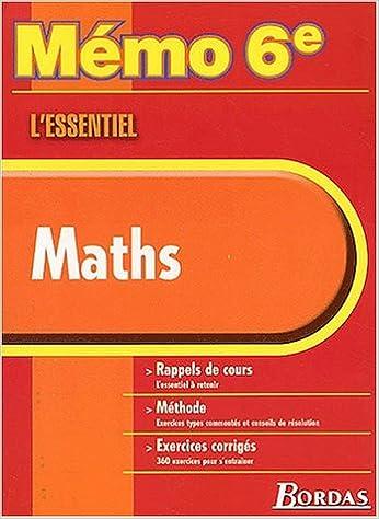 Lire MEMO ESSENTIEL MATHS 6E    (Ancienne Edition) epub pdf