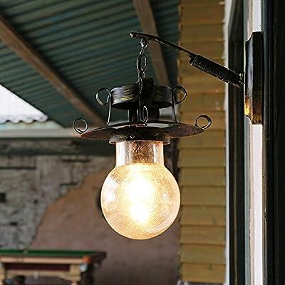MMYNL Moderne Appliques Murales Rétro Appliques Murales Vintage Lampe Pour  Chambre Salon Bar Couloir Salle De Bains Cuisine Escalier Intérieur Lampes  Verre ...