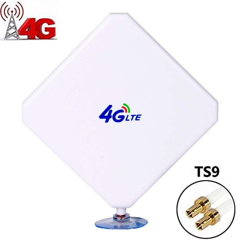 Aigital 4G LTE Antenna TS9 Antenna 35dBi High Gain Long Range Network Antenna with Suction Cup and 2m Extension Cable for 4G WiFi Router Mobile Hotspot Outdoor Signal Booster TS9 Male Connector by Aigital