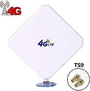 Aigital 4G LTE Antena CRC9 35dBi Dual Mimo Antenna Amplificador de Señal 3G/4G/GSM High Gain Antenna para Huawei Enrutador Móvil 4G Router Banda Ancha ...