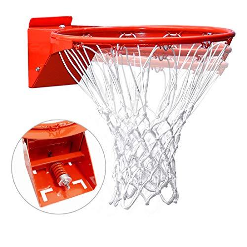 Pro Slam Professional 180º Heavy Duty Breakaway Basketball Rim,18 inch Single Spring Flex Rim Goal Replacement fit Indoor and Outdoor Backboard