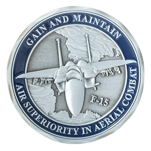 United States Air Force F-15 Eagle Tactical Fighter Aircraft Challenge Coin (Force Air Eagle F15)