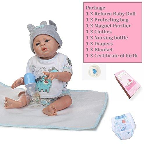 Amazon.com: Muñeca de bebé reborn con cuerpo completo de ...