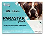 Novartis Parastar Plus Flea and Tick Control for Dogs, 89 to 132-Pound, Blue, My Pet Supplies