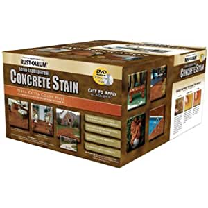 Rust oleum 239408a concrete stains kit terra for Concrete home kits