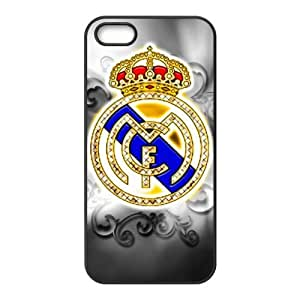 JIUBIE Custom Cover Football Real Madrid CF Cristiano Ronaldo CR7 for iPhone 5/5S Hard Plastic Case