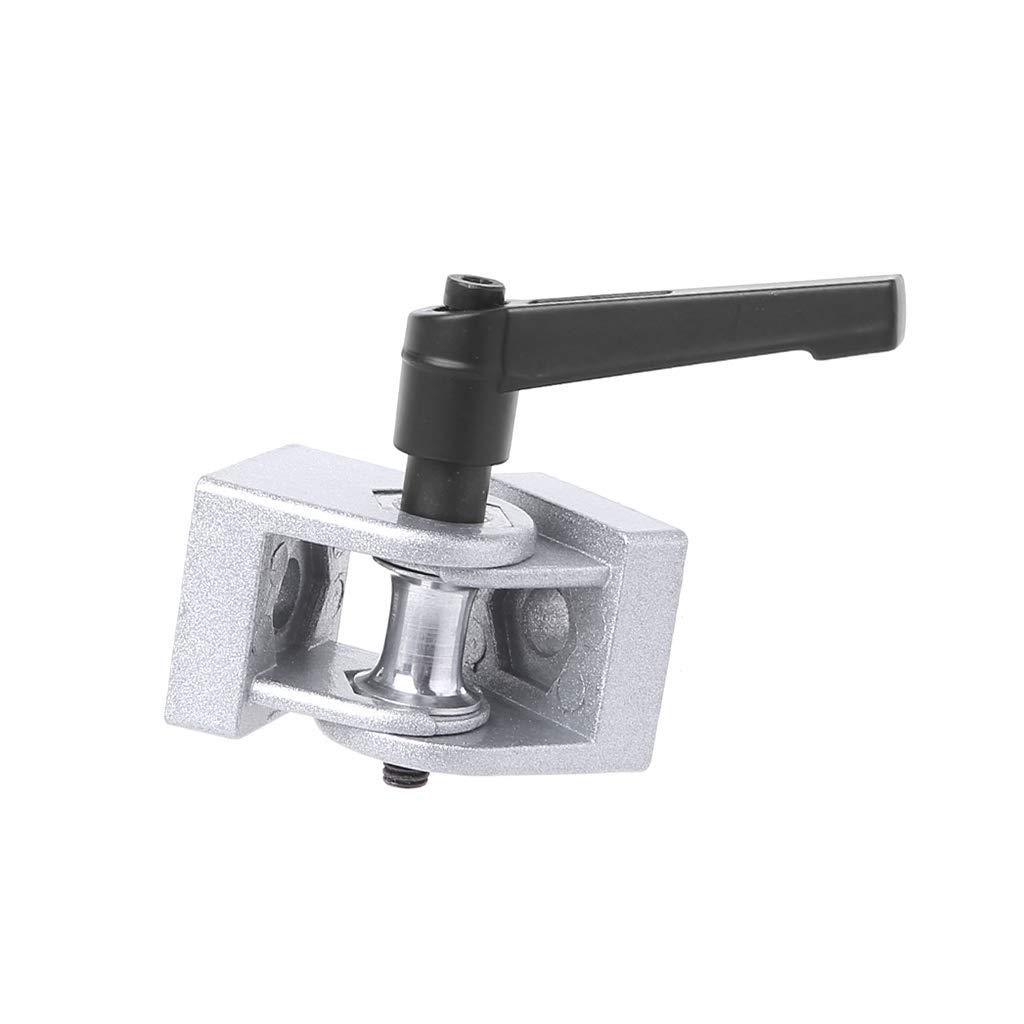 Silber JOYKK 3030S Zinklegierung Flexibles Scharnier mit Griff Druckguss-Gelenkverbinder f/ür Aluminiumprofil