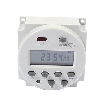 sourcing map DC 12V Encendido/Apagado Semanal Automático Programable Luz Digital Temporizador del Interruptor del Reloj: Amazon.es: Electrónica