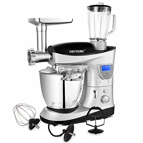 CHEFTRONIC 4 In 1 Upgraded Multifunction Kitchen Stand Mixer SM-1088, 1000W 7.4QT...