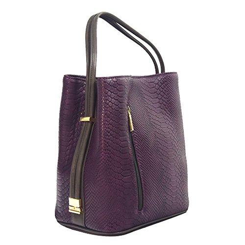 'lia' Designer Plum Woven Handbag By Samoe Style Ss-2865