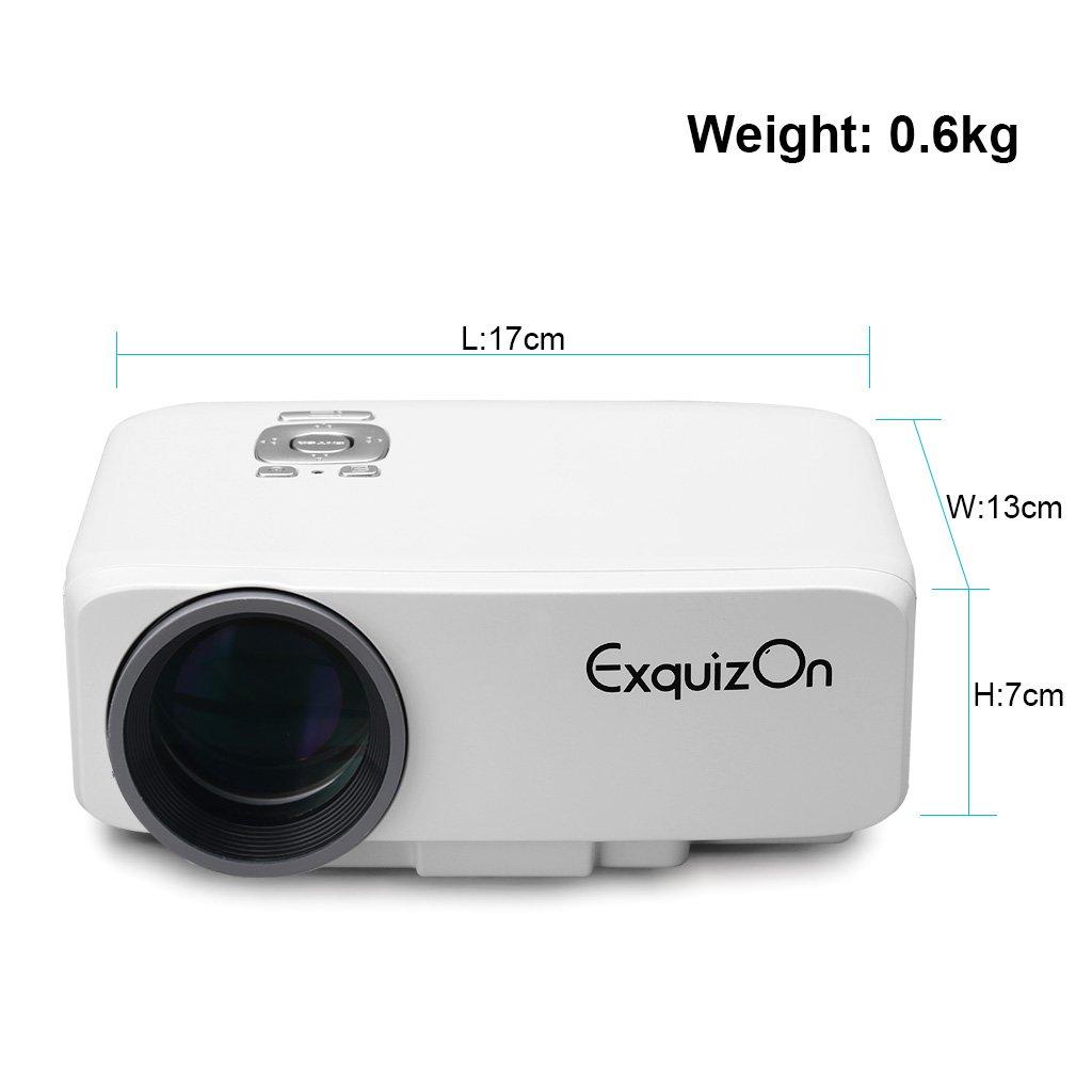 exquizon gp9s TFT-LCD cine en casa Pico proyector portátil (800 ...
