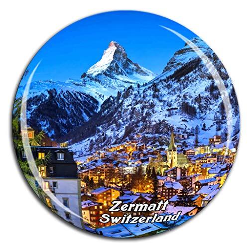The Matterhorn Zermatt Switzerland Fridge Magnet 3D Crystal Glass Tourist City Travel Souvenir Collection Gift Strong Refrigerator Sticker