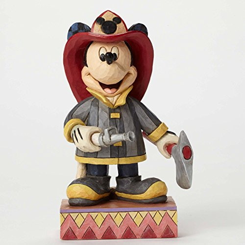 Jim Shore Disney To The Rescue Heroic Fireman Mickey Mouse Figurine 4049632 New Mickey Mouse Firefighter