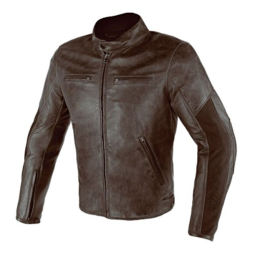 Dainese Stripes (Dainese Stripes D1 Perforated Leather Jacket Dark Brown 62 Euro/52 USA)