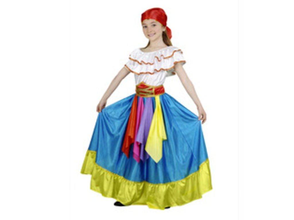 CRAZY THE PARTY Disfraz infantil zingara azul 5-6: Amazon.es ...