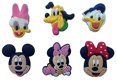 Mickey Mouse and Friends Fridge Magnets 6 Pcs Set #1 by Atlantis USA (Disney Refrigerator Magnets)