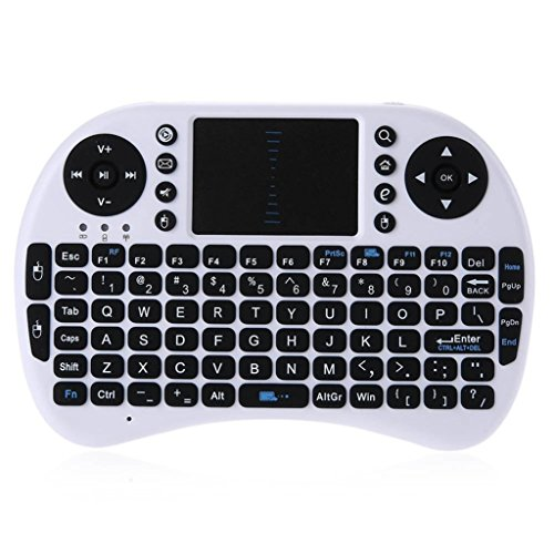 COOKI Wireless Mini Keyboard iPazzPort 21 for Windows, Android TV Box and Raspberry Pi,HTPC,Mac OS, Smart TV Mini QWERTY keyboard with Touchpad Mouse