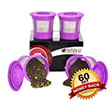 Kitchen Appliance Packages in Black Delibru 4Pack Reusable K-Cups Refillable universal KCup for Keurig 2.0 & 1.0 Machines. Reusable kcup, k cup reusable filter, keurig coffee filters, Compatible With Keurig Brewers.