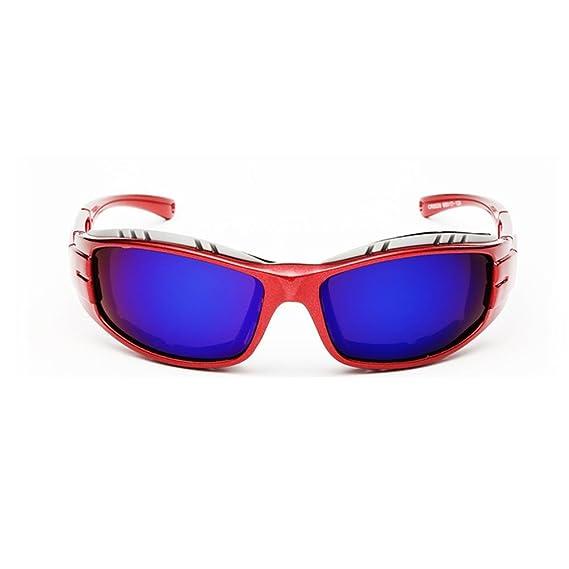 Coolsir 8520 Occhiali Da Sole Sportivi Polarizzati Da Uomo Per Lo Sci Driving Golf Running Cycling Superlight Design Del Telaio Per Uomo E Donna , Red