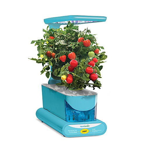 Aerogarden sprout led with gourmet herb seed pod kit teal for Indoor gardening amazon