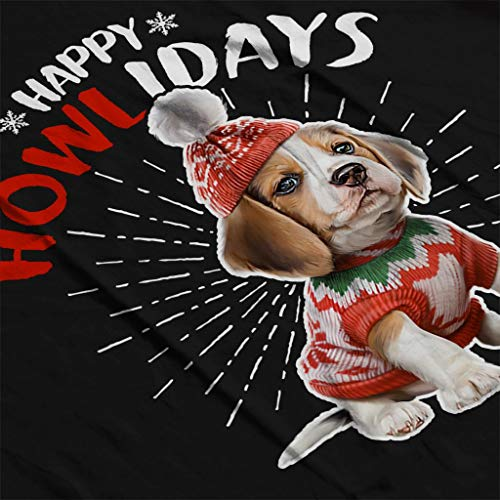 Black Coto7 Happy Christmas Howlidays Men's Sweatshirt Dog xRfRCwYr