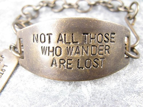 Not All Those Who Wander Are Lost Hand Stamped Bracelet - LOTR