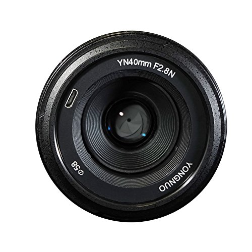 YONGNUO YN40mm F2.8N 1:2.8 Light-weight Standard Prime AF/MF lens for Nikon DSLR Cameras by Yongnuo
