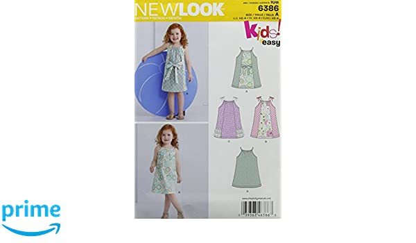 Amazon.com: New Look 6386 Toddlers Easy Pillowcase Dresses Sewing Kit, Size A (1/2-1-2-3-4)