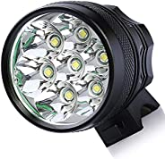 wi8 9T6 Bicycle Headlight,10500 Lumens 9 Led Super Bright Front Headlight Waterproof Mountain Bike Headlamp wi
