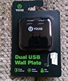 YOUSE Dual USB Wall Plate (white)