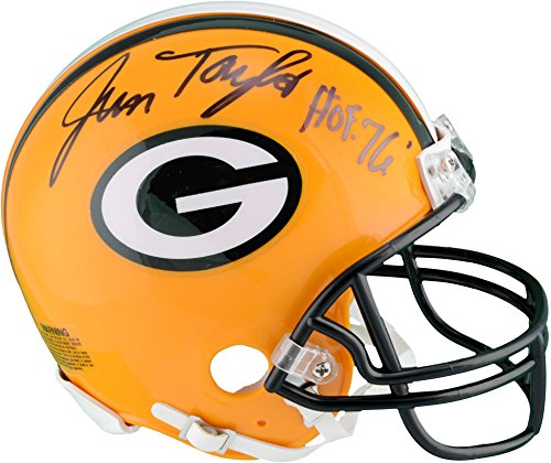 Jim Taylor Green Bay Packers Autographed Riddell Mini Helmet with