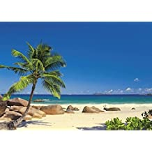 Tropical Beach Wall Mural 8ft 10in Wide x 6ft 4in High