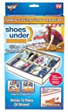 Telebrands Space Saving Shoe Organizer Clear by PROMART