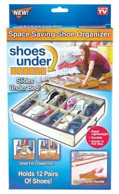 Telebrands Space Saving Shoe Organizer Clear by PROMART by Telebrand
