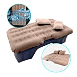 Shelterin Inflatable Car Air Mattress Camping Travel Car Air Bed Back Seat Extended Mattress Air Couch with Car air Pump, Children Safety Baffle and Two Air Pillows