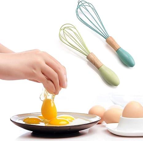 Batidora De Mano Batidora De Huevos Con Mango De Pl/ástico Con Manivela De Acero Inoxidable Para Cocinar Cocina Batir
