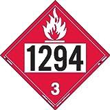 Labelmaster ZT2-1294 UN 1294 Flammable Liquid Hazmat Placard, Tagboard (Pack of 25)