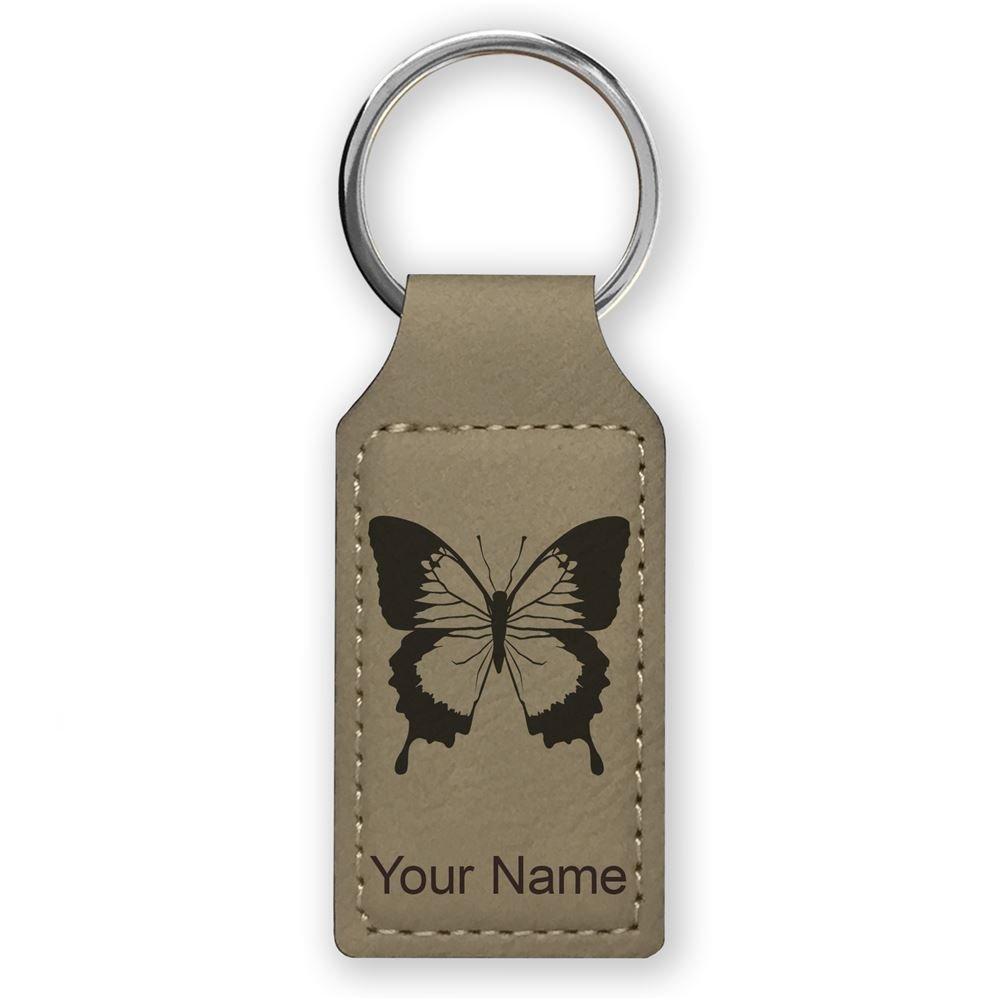 Llavero rectangular, diseño de mariposa con cola de ...