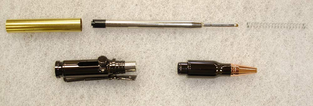 Charnwood Pen Turning PENLLGM Lock n Load Bullet Pen - Gun Metal
