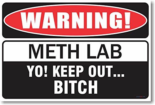 Warning Meth Lab - New Humor Poster