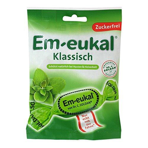 Dr. C Soldan Em-eukal Klassisch zuckerfrei, sugar free cough drops 75g - 2.65 Oz (sugarfree, 75gram) (Best For Chesty Cough)
