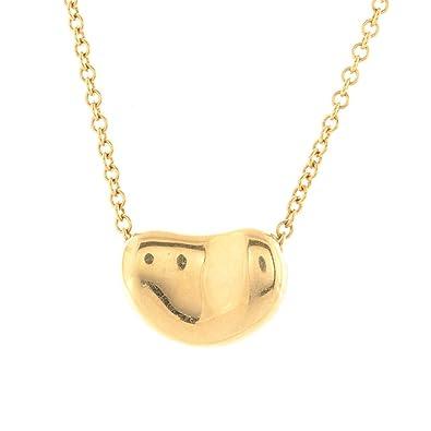 e5d3f509b Amazon.com: Tiffany & Co. Elsa Peretti Bean Pendant Necklace 18k ...